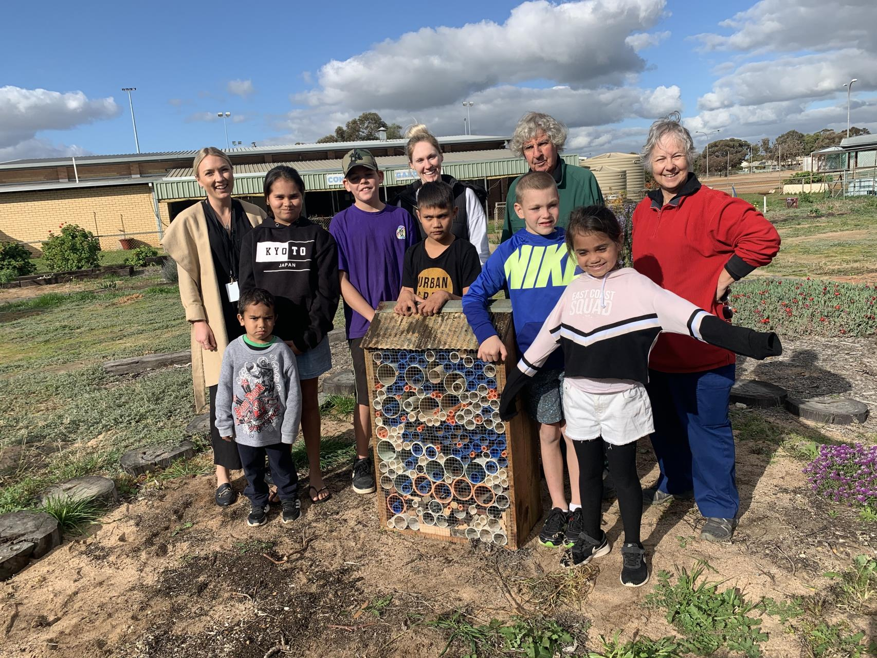 Avon Youth Insect Hotels Delivered to Merredin Community Garden