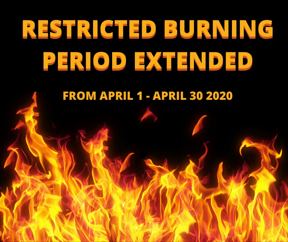 RESTRICTED BURNING EXTENDED
