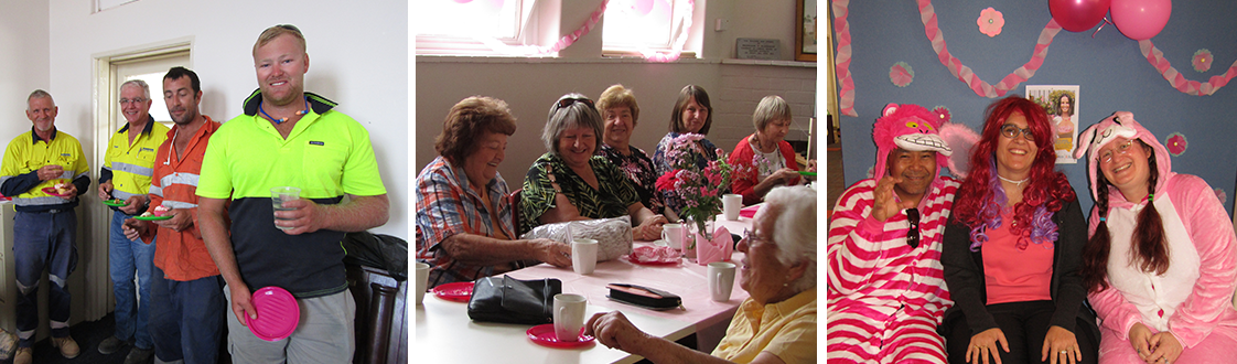 Picture: Pink Morning Tea at the Library 2018
